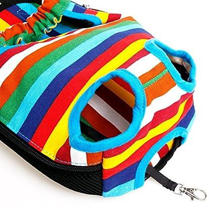 TiaoBug Dog Portable Backpack Carrier Pet Outdoor Travel Bag Hiking Camping 5