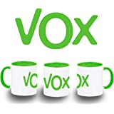 MERCHANDMANIA Taza Logo Partido VOX Color mug