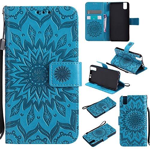 Funda Huawei Honor 5C,Flip Funda Carcasa caso cover Skin Pro Series Ultra Slim Layered Dandy, Pata De Cabra,Magnetico, TPU Parachoques, Protección De Cuerpo Completo Para Huawei Honor 5C,Regalo Protector de Pantalla para Huawei Honor 5C -Azul