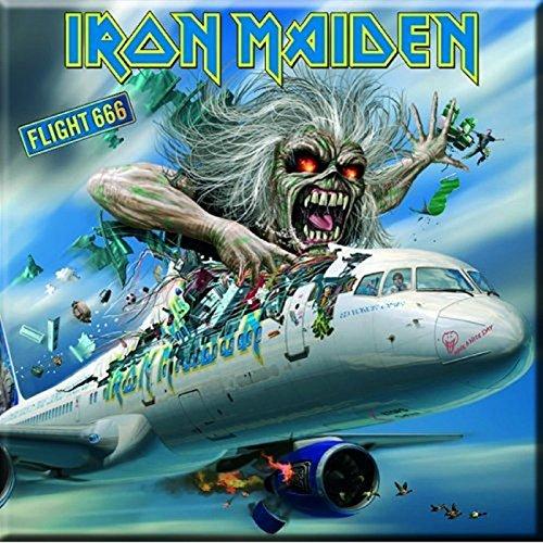 Iron Maiden Kühlschrankmagnet Flight 666 band logo Nue offiziell 76mm x 76mm