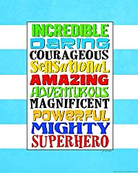 Heritage 1093 Mighty Superheros Wall Decor, 14 x 11-Inch