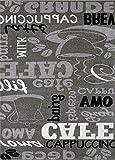 Teppich Modern Flachgewebe Sisal Optik Küchenteppich Küchenläufer Coffee Grau Weiss Schwarz Töne – VIMODA, Maße:60×100 cm - 5
