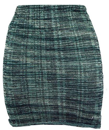 19c5fb50ea29 Guru-Shop Minirock Boho Strickrock, Ethnorock, Damen, Grün, Baumwolle,  Size 36, Kurze Röcke Alternative Bekleidung