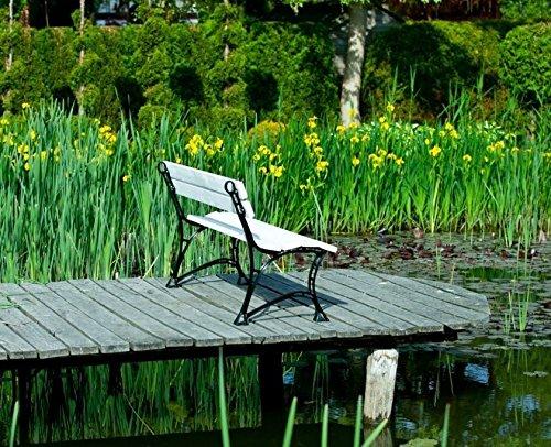 GOLD GARDEN G02021 Gartenbank Toskana aus weissem Fichtenholz 180 cm für 4 Personen - 3