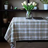 Dafa Tischdecken Classic Thick Polyester Linie Mischung Tischabdeckung rechteckige Studie/Abendessen/Kaffee Schreibtisch Antependium angepasst (Color : Green Squares, Size : 135 * 180cm)