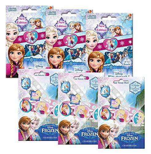 Craze 54988 - Mini Slap Snap und Charmbands, Disney Frozen, je 3 Foilbags, sortiert Mini-snap