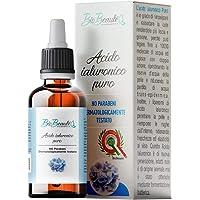 Acido Ialuronico Viso | BioBeautè | Siero Puro 100%, 30ml. Rimpolpante ed Antirughe. Perfetto con Dermaroller - Bio…