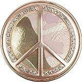styleBREAKER Peace Magnet Schmuck Anhänger mit Strasssteinen und Camouflage für Schals, Tücher oder Ponchos, Brosche, Damen 05050045, Farbe:Rosegold