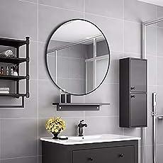Simmer Stone Großer Moderner Runder Wandspiegel Mit Metallrahmen,  Dekorativer Spiegel Für Wohnzimmer Oder Badezimmer,