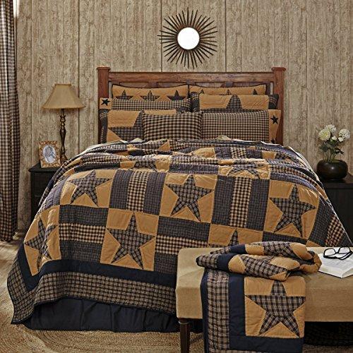TETON Star Primitiv Country Patchwork Queen Quilt 228,6x 228,6cm von Ashton & Weiden, VHC Marken (Primitive Country Quilts)
