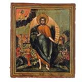Holyart Alte russische Ikone Johannes der Täufer 19. Jh.