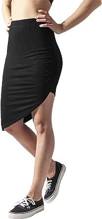 Urban Classics Ladies Asymetric Viscose Skirt Gonna Donna
