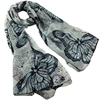 DAYSEVENTH Clearance New Chiffon Butterfly Print Scarf Shawl Elegant Light & Soft Stylish Xmas Gifts