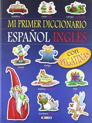 Diccionario español-inglés (azul) (Mi primer diccionario de pegatinas)