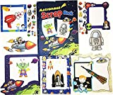A4 Scrap Book Set Astronaut Space Design Pages Picture Album Creative Art Craft Stickers Frame Kids Children Fun Party Bag Filler Activity