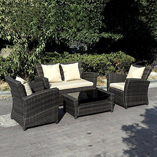 11tlg.Gartenmöbel Rattan Lounge Set Polyrattan Sitzgruppe Rattanmöbel Garnitur Garten - 3