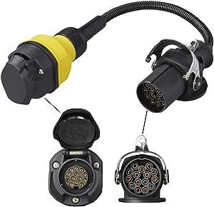 Adapter 15 Auf 13 Polig Kurzadapter Spannungsreduzierer 24v Auf 12v Pkw Anhänger Nur Für Led Auto