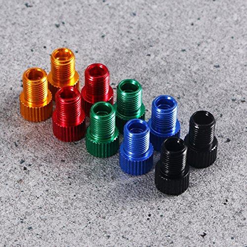 WINOMO Fahrrad Ventil Adapter 10 Stücke Aluminium PRESTA SCHRADER Konverter Auto Fahrrad Schlauchpumpe Kompressor Werkzeuge - 8