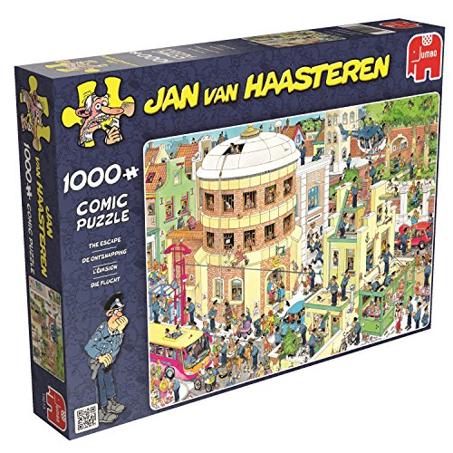 Preisvergleich Produktbild Jumbo 19013 - Jan Van Haasteren - Die Flucht, 1000 Teile Puzzle