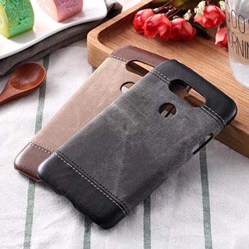 LG G5 Case Cover, Cowboy Jeans Textur Muster Hartleder Kunststoff Rückseite für LG G5 ( Color : Black , Size : LG G5 ) Brown