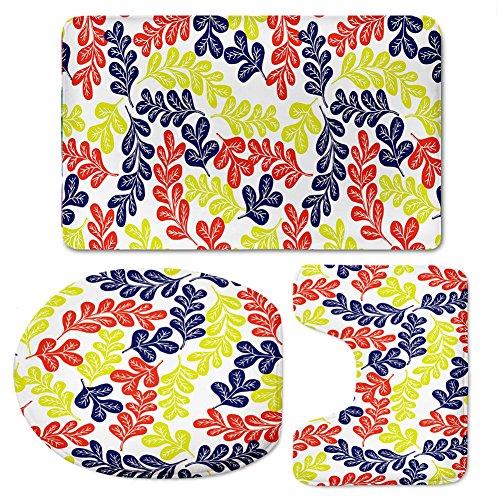 Preisvergleich Produktbild chaqlin 3Stück Bad Teppich Set Modische Muster rutschfeste Rückseite BAD TEPPICH Contour Teppich WC-Deckelbezug pattern-1