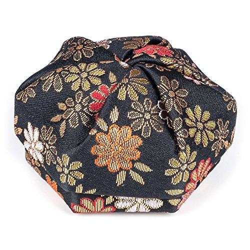Florale Noire Boîte à Bijoux Japonaise Traditionnelle