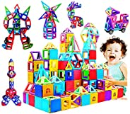 PATIOSNAP 146 Piece Magnetic Building Blocks Castle Magnetic Toys Magnet Tiles Gift, Magnetics Construction Bo