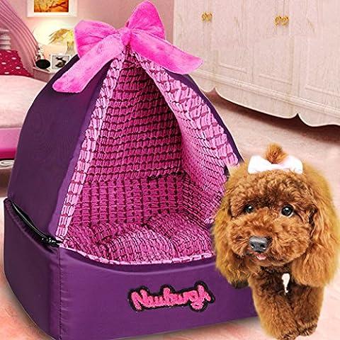meiying Hundebett Jurte Abnehmbare und gewaschen mit vier Jahreszeiten angenehm weiche Betten