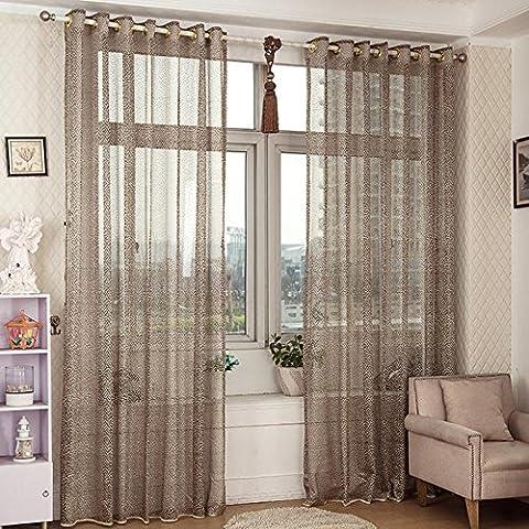 Fenster-Vorhang-Vorhang-Vorhang-Verkleidungs-Schlitz-Oberseite-Ebene, Größe 39 indow Sheer Curtains Door Curtain Panel Slot Top Plain, size 39