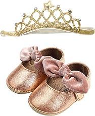 Huhu833 Babyschuhe, 2 Pcs Baby Mädchen Schuh Anti-Rutsch-weiche Sohle Kleinkind Schuhe+ Stirnband