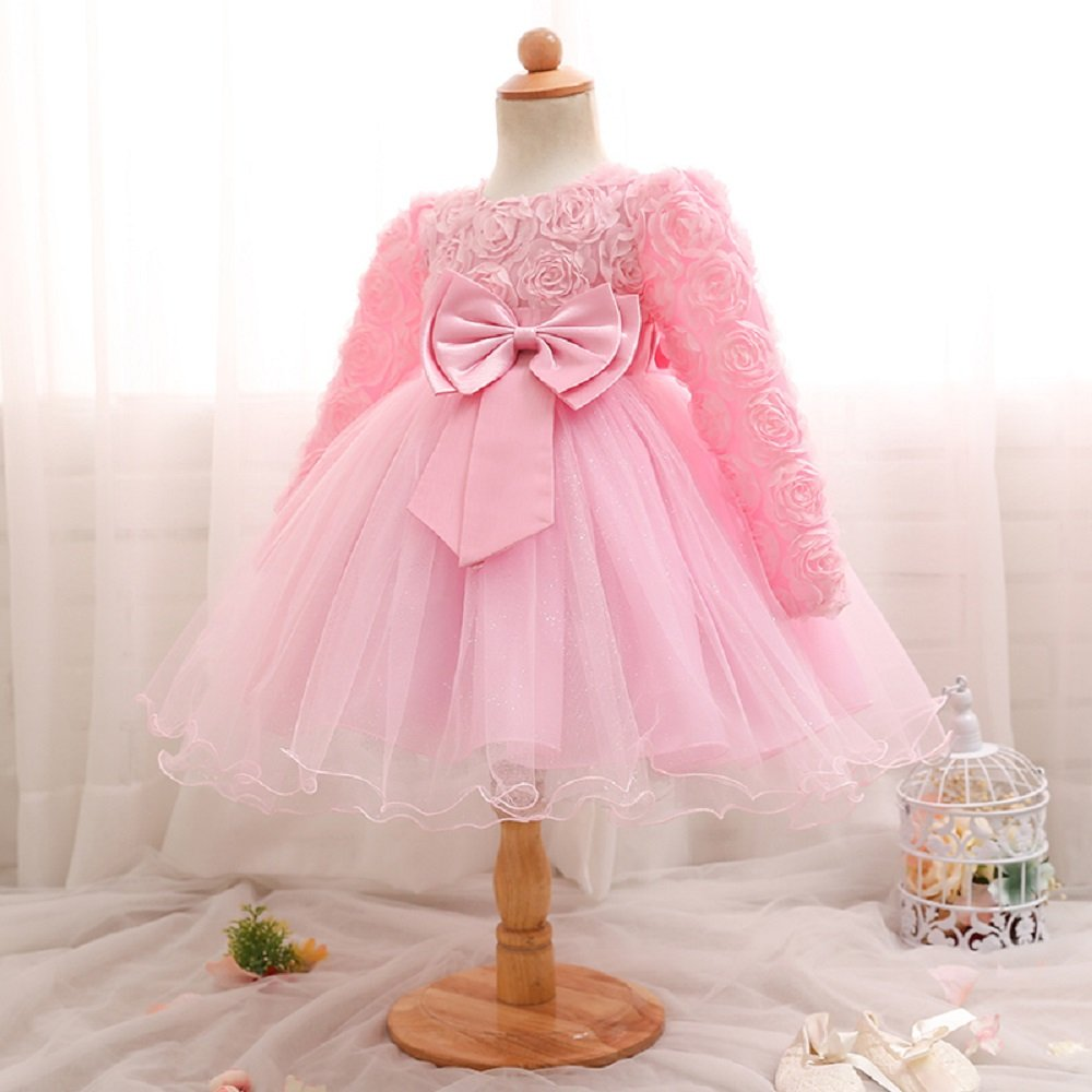 London Winter Kids Dresses For Girls Baby Birthday Outfits Party Costume Tulle 1 2 Years Old Girl Frocks From LONDON
