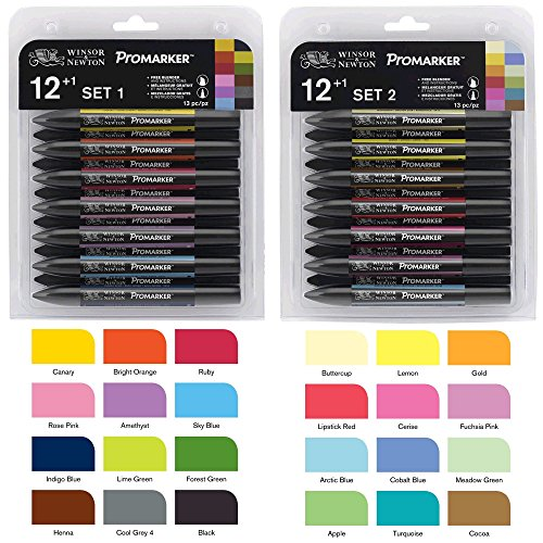 Letraset Promarker Set 1 and 2 Bundle