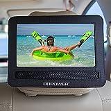 DBPOWER 9/9.5 Car Headrest Moust Holder Strap Case for Swivel & Flip Style Portable DVD Player