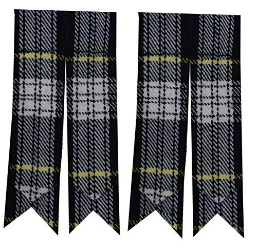 Schottische Kilt-Flashes, verschiedenen Tartanstoffe, spitz zulaufend Gr. Large, Mehrfarbig - Dress Gordon (Gordon Dress)