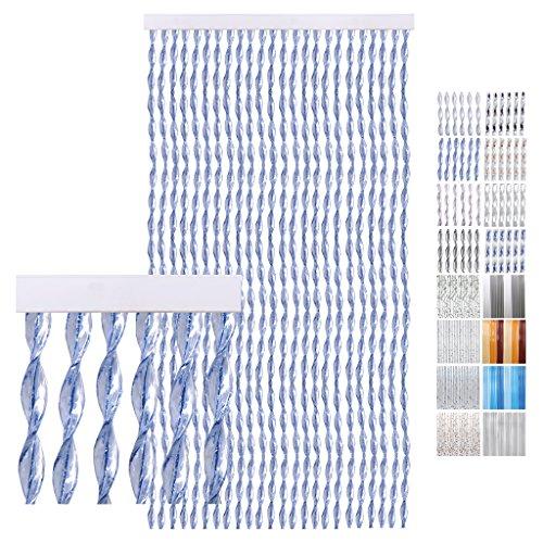 Pvc-tür-vorhang (Türvorhang PVC Streifen blau 90 x 200 cm)