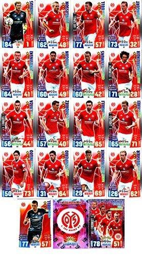 Match Attax Bundesliga 2015 2016 - Karten-Set 1. FSV Mainz 05 Viererkette Clubkarte - Deutsch (2015 Topps Fußball Karten)