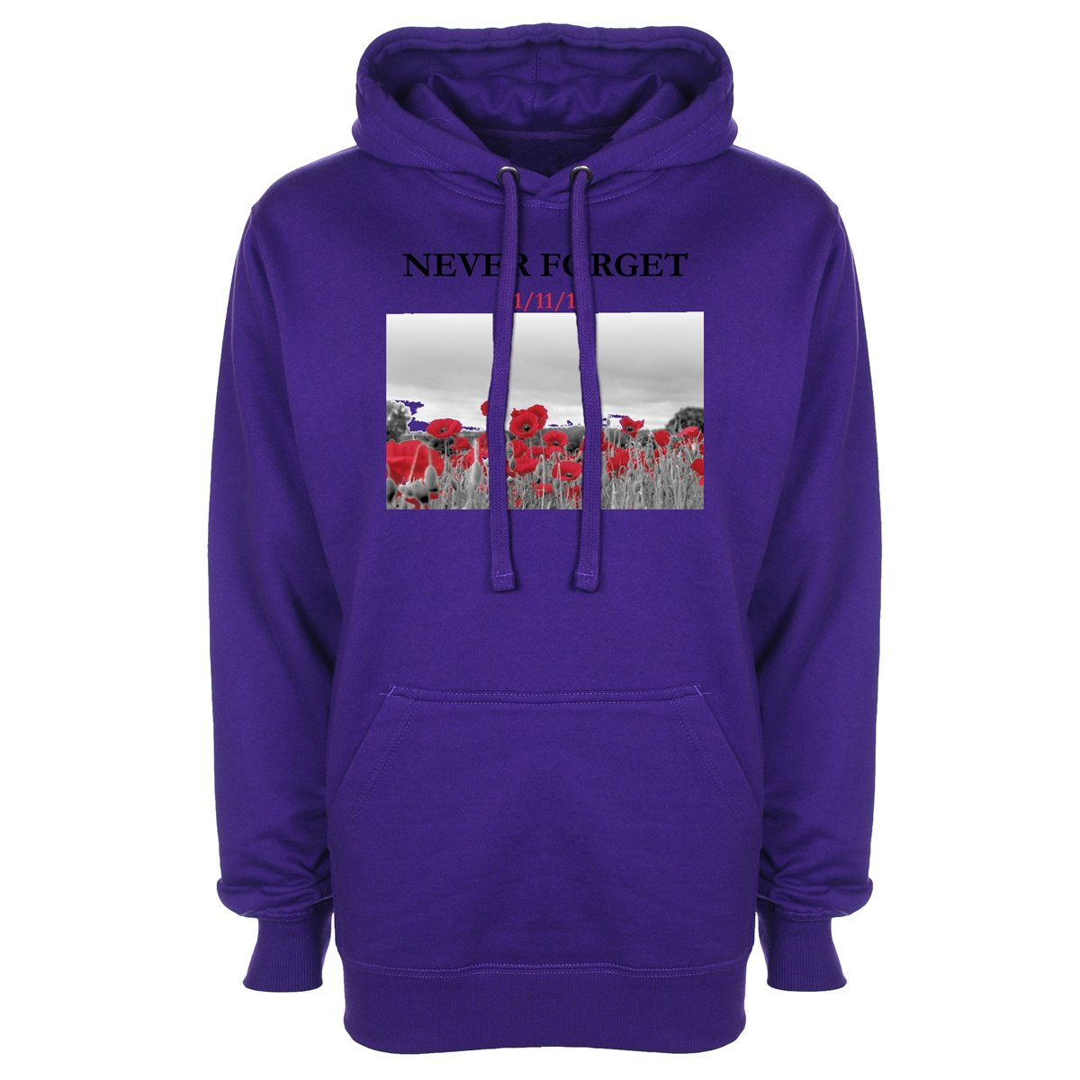 never forget royal british legion remembrance day poppy hoodie