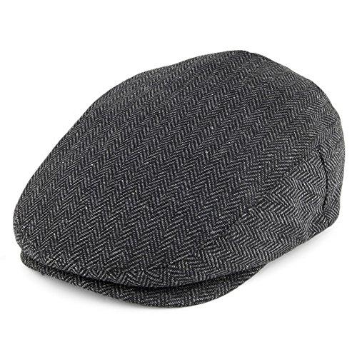 Casquette Plate Hooligan à chevrons gris-noir BRIXTON - Medium - 58cm