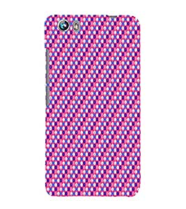 Love Pink Design 3D Hard Polycarbonate Designer Back Case Cover for Micromax Canvas Fire 4 A107