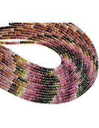 3bfc877a8eb9 Neerupam Collection Perlas Sueltas Turmalina Natural rondelle facetas Semi Piedra  Preciosa para la fabricación de Joyas