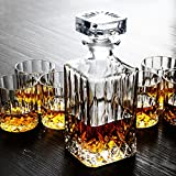 Pinkdose® 7Pcs/Set Crystal Wine Cup Wine Sets Creative Whiskey Cup Decanter Wine Bottle Glass Wine Bottle