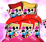 Mickey & Minnie Mouse Kissing Cotton Dou...
