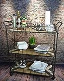 Livitat® Küchenwagen Servierwagen Teewagen Industrial Loft Metall Vintage Retro Holz