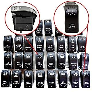LED-Mafia Symbol Kippschalter Wippschalter Schalter Auto Boot KFZ LKW Licht 12V 24V (Luftkompressor - Air Compressor JJ70)