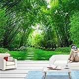 Fototapete Foto Fototapete Benutzerdefinierte Foto Tapeten 3D Green Bamboo Forest Große Wandmalerei Moderne Wohnzimmer Wandbild Tapete Für Wände Kontakt Papier 3D, 150 Cm X 105 Cm