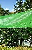Gewächshaus Schattiernetz/Hagelschutz - Breite 3,0m x Länge 4,0m, Grün