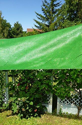 Gewächshaus Schattiernetz/Hagelschutz – Breite 1,5m x Länge 10,0m, grün