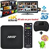 [Mini Wireless Keyboard] GoTron M8S+ M8S PLUS Smart TV BOX Android 5.1 TV box con apoyo Gigabit Ethernet Streaming Media Player Fully Loaded KODI Wifi (XBMC) 2G RAM + 8G ROM