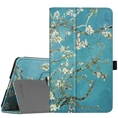 Fintie Hülle Case für Huawei M5 8 Tablet - Ultra Schlank Kunstleder Folio Schutzhülle Etui Tasche Case Cover mit Auto Sleep/Wake Funktion für Huawei MediaPad M5 21,34 cm (8,4 Zoll), Mandelblüten