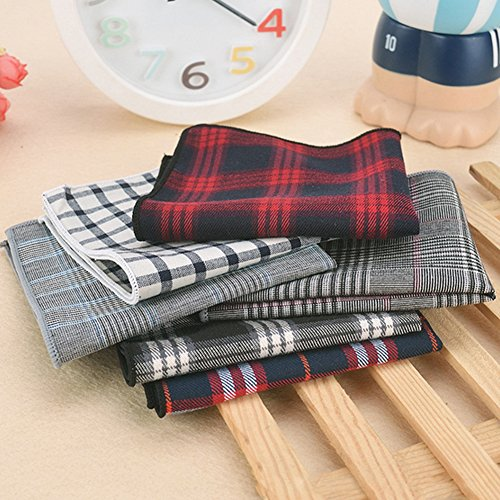 Sitong Hommes mode coton plaid costume poche mouchoirs carr¨¦s Q-09